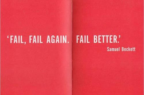 Fail. Fail again. Fail better.